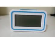 Relógio Despertador Digital. Azul Claro