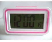 Relógio Despertador Digital. Rosa
